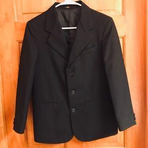 Boy black suit coat size 14
